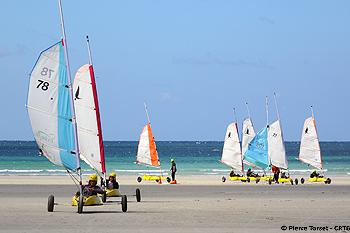 Sand yachting with Ciel Bretagne